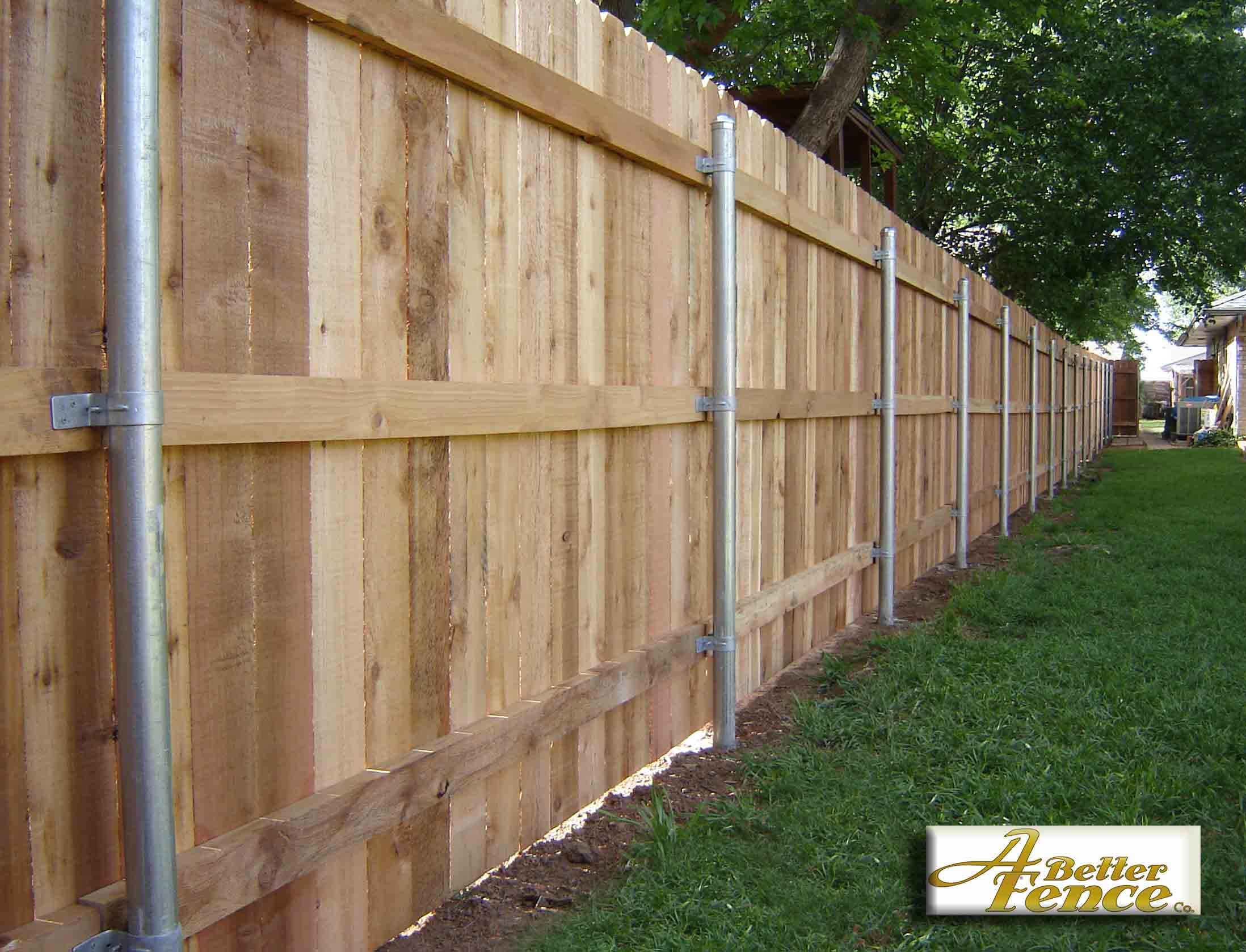5 8 x 6 solid board western red cedar privacy fence for Simple fence plans