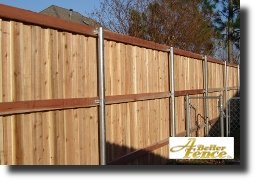 Back side of decorative privacy fence design, with out top cap and trim
