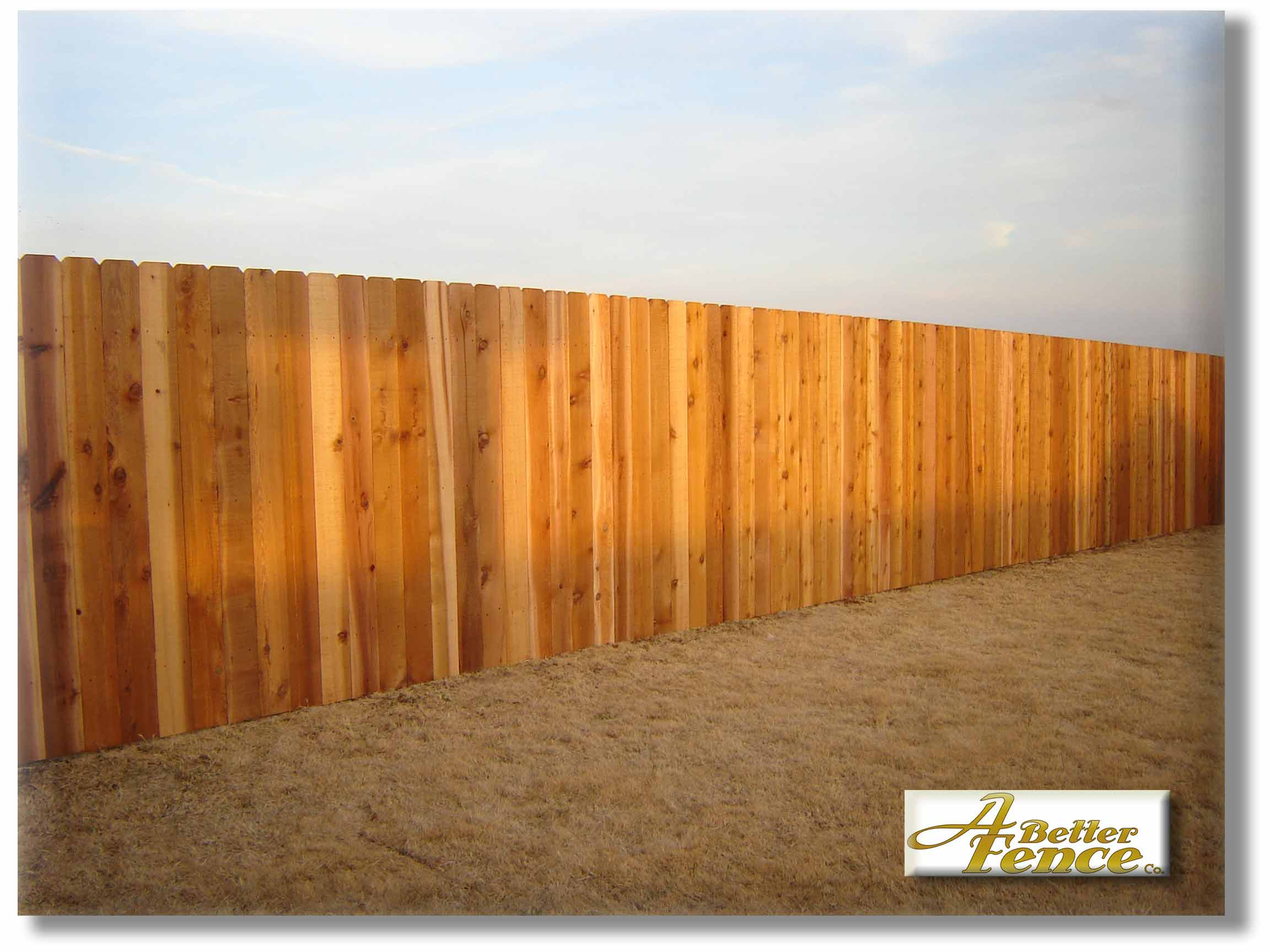 Superb img of Solid Board Western Red Cedar Privacy Fence with #C27209 color and 2304x1728 pixels