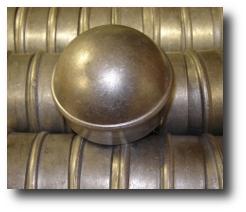 Galvanized fence post caps, fits 2 3/8
