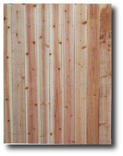 Cedar privacy fence panels