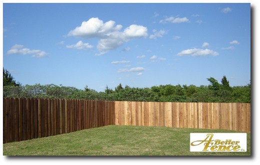 Board on Board Cedar 6' foot high fencing built on site in Edmond, OK
