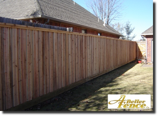Best photo of decorative privacy fencing with cedar top cap and trim piece
