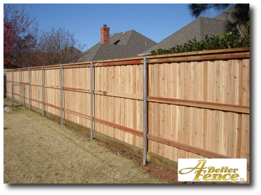 Backside of decorative privacy fence