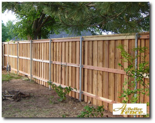 Decorative privacy fence with full trim wooden designs