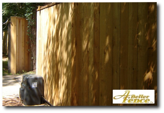 2 Sided Solid Board Privacy Fence Design Wooden Fence
