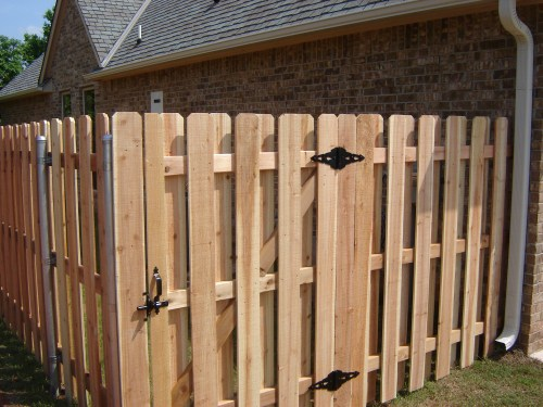 Gallery of privacy fence pictures of fences built right here in oklahoma wooden fencing picture workwithnaturefo