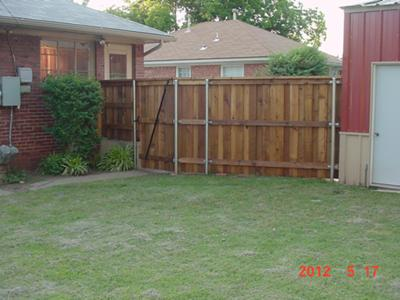 Fence from inside of backyard.