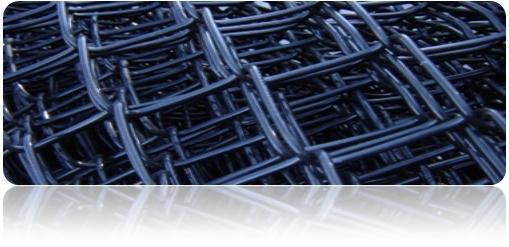 Black vinyl coated chain link fence, Black pvc coated chain link fence