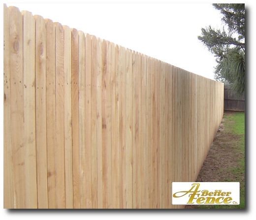 Solid board cedar fence 4