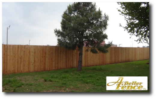 Solid Board fence design, 6' foot high cedar picket