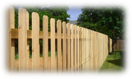 Shadow box wooden semi private fence installed in Edmond, Oklahoma