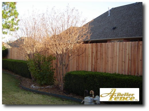 Decorative privacy fence installed in Edmond, OK