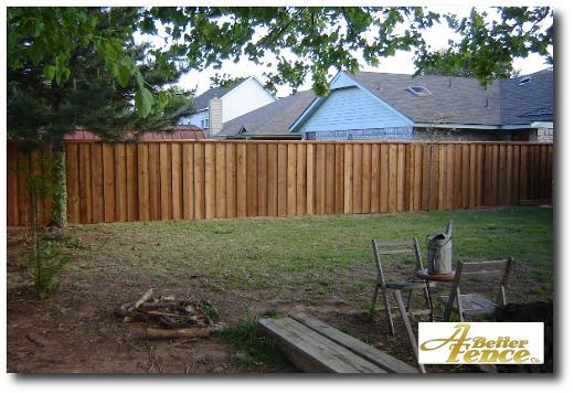Board on board cedar side fence