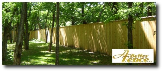 8' foot high 2-sided Solid Board Privacy Fence Design