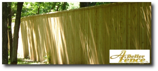 This 8' foot high cedar absolute privacy fence is constructed with 4 stringers.