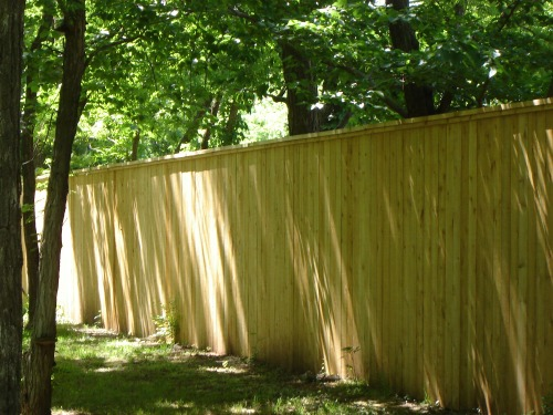 Privacy fence pictures cedar 8' foot custom built