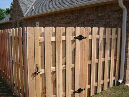Wooden fencing picture