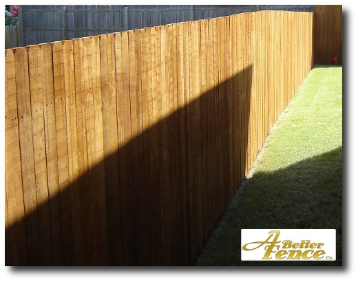 Stained wooden fence design, 4
