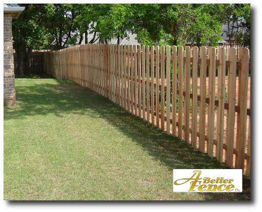 Shadowbox fence, shadow box fencing, front facing street in Edmond, Oklahoma