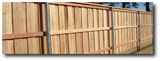 decorative privacy fence, a board on board type with full trim